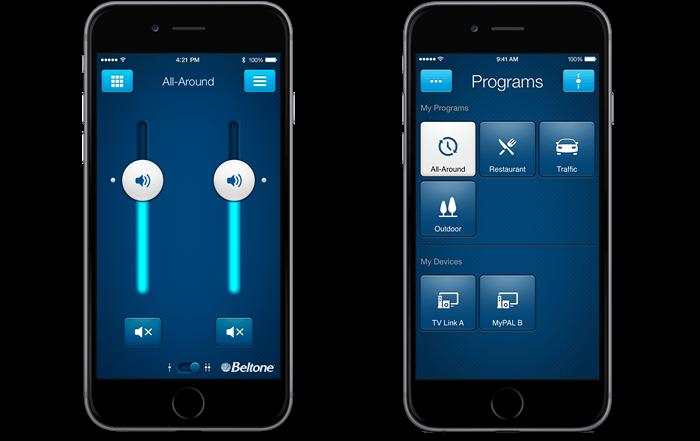 Beltone-HearPlus-app-change-volume-and-program-cropped